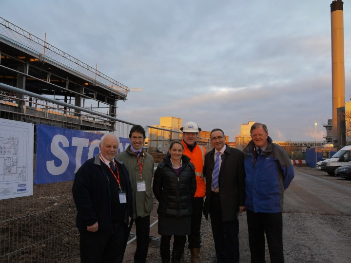 L-R: Mayor Joe Cowell, Rory Stewart MP, Joanne Young (Group Project Manager, Innovia Security), Alistair Grant (Construction Director, Story Contracting), Dominic Heaton (Finance Director, Innovia Films) and Councillor Duncan Fairbairn.