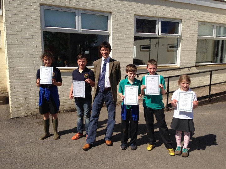 Rory Stewart alongside poetry winners