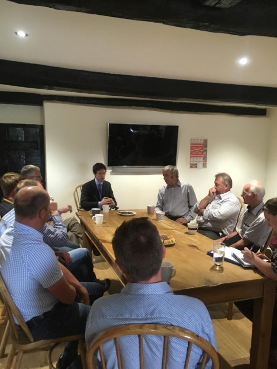 Rory Stewart MP Meets With NFU Members