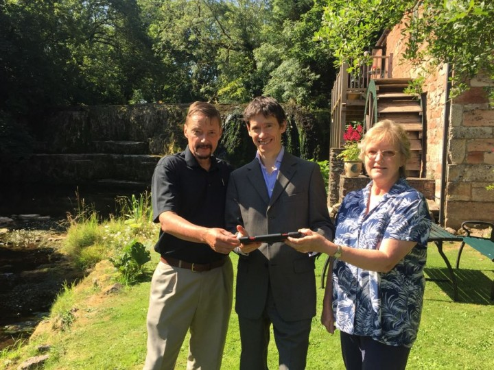 Rory Stewart MP with Jim and Jane Wilson