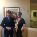 Rory Stewart MP with Susan Thompson