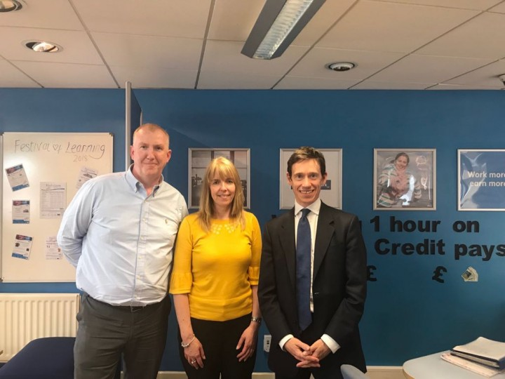 Rory Stewart MP at Penrith JobCentre