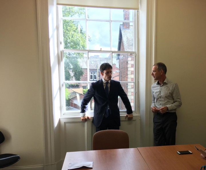 Rory Stewart MP with Chris Kaighin