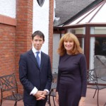 Rory Stewart MP with Professor Patricia Livsey