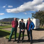 Rory Stewart MP at Troutbeck Head Caravan and Motorhome Club Site