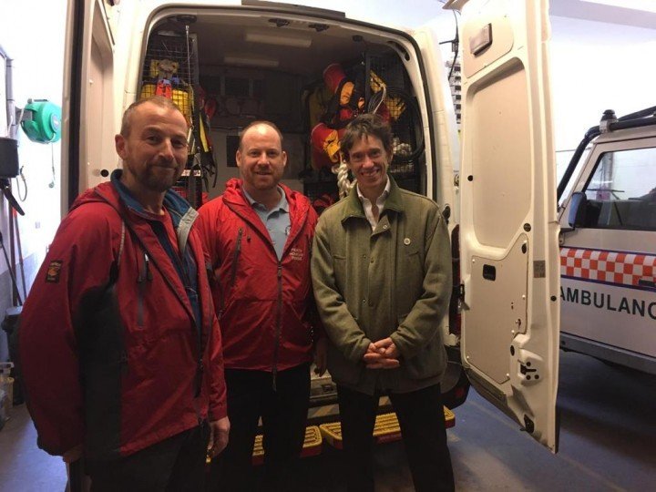 Rory Stewart MP at Penrith Mountain Rescue