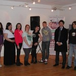 Rory with young people at Penrith's Devonshire Arcade