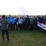Addressing a protest against Wind Farms