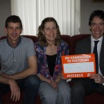 From Left to Right: John Yerkess, Diana Yerkess, Rory Stewart MP