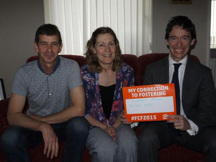 From Left to Right: John Yerkess, Diana Yerkess, Rory Stewart MP