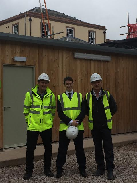 Rory visiting Atkinsons Building Contractors