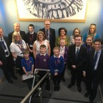 Rory Stewart MP, Jacob Reid MYP and Eden Schools Representatives