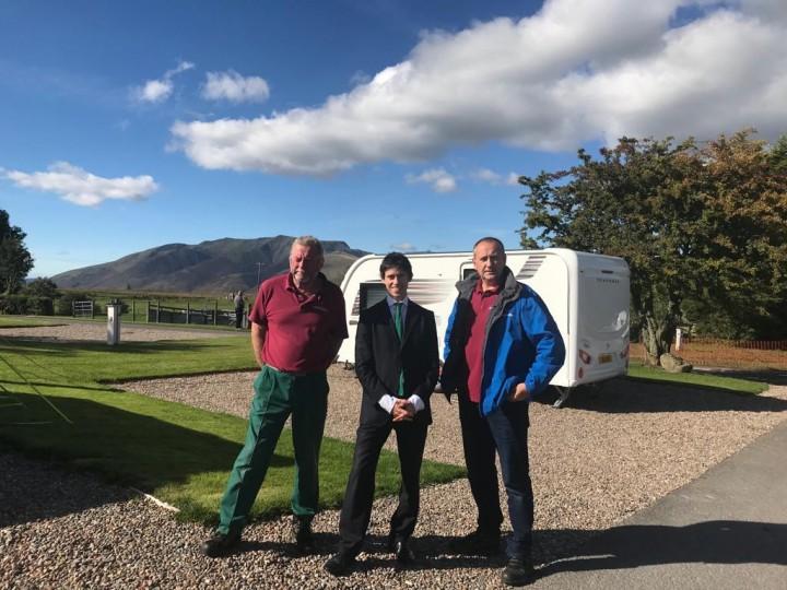Rory Stewart MP at Troutbeck Head Caravan and Motorhome Club Site