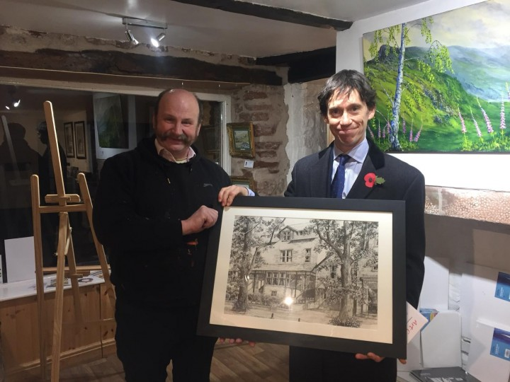 Rory Stewart MP at Castle Fine Art Gallery