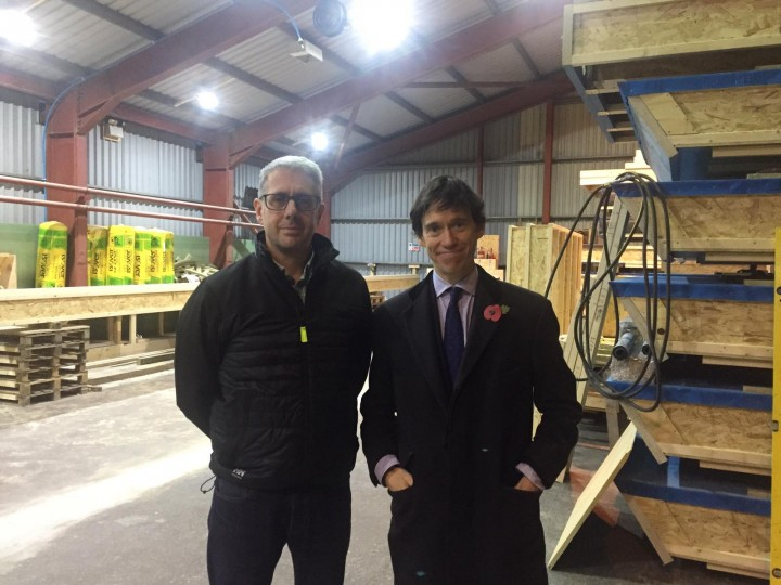 Rory Stewart MP at Eden Insulation