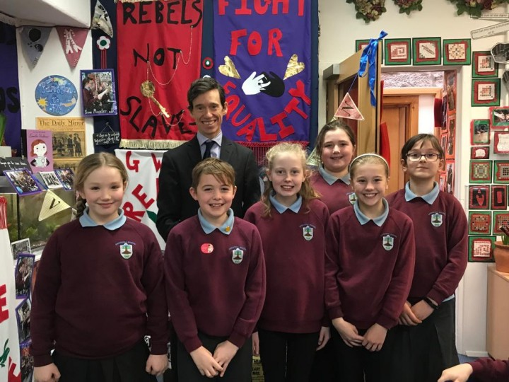 Rory Stewart MP at Greystoke Primary School
