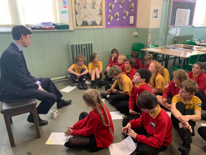 Rory Stewart MP at Penruddock Primary School